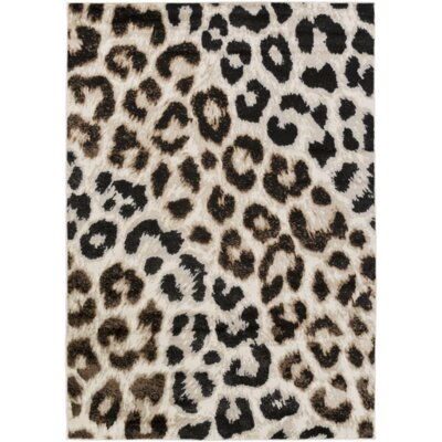 Brown Area Rug Rug Size: 78 x 106