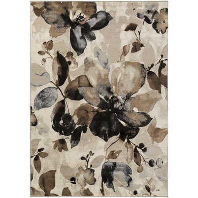 Griselde Beige/Brown Area Rug Rug Size: Rectangle 39 x 52