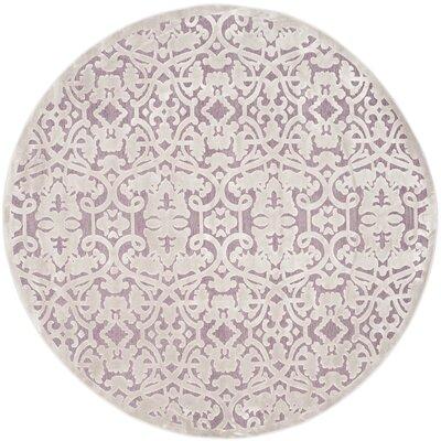 Mauve/Violet Area Rug Rug Size: Round 67