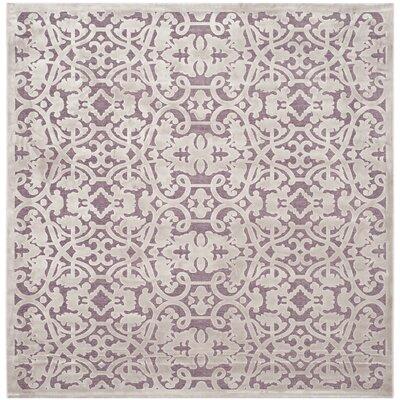 Mauve/Violet Area Rug Rug Size: Square 67