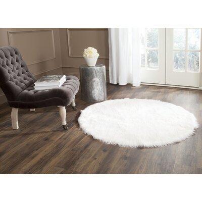 Bilton White Area Rug Rug Size: Round 5