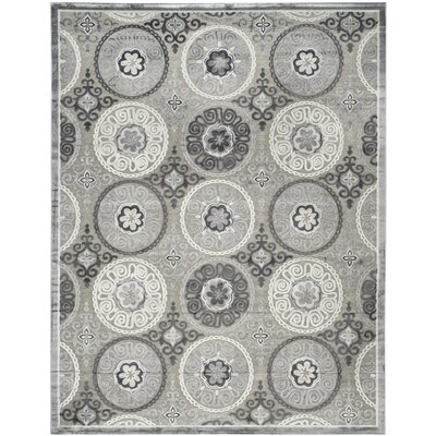 Light Gray/Dark Gray Area Rug Rug Size: 8 x 10