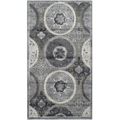 Light Gray/Dark Gray Area Rug Rug Size: 23 x 4