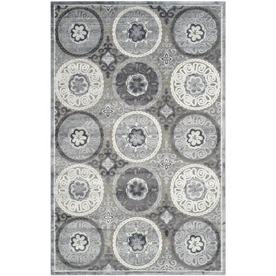 Light Gray/Dark Gray Area Rug Rug Size: Rectangle 51 x 76
