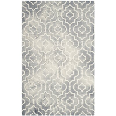 Berman Dip Dye Gray/Ivory Area Rug Rug Size: Rectangle 26 x 4
