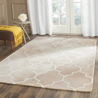 Berman Dip Dye Beige/Ivory Area Rug Rug Size: Rectangle 26 x 4