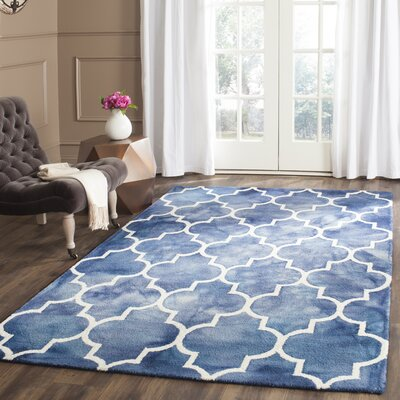 Berman Dip Dye Navy & Ivory Area Rug Rug Size: Rectangle 4 x 6
