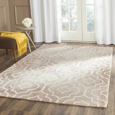 Berges Hand-Tufted Wool Beige / Ivory Area Rug Rug Size: Rectangle 26 x 4
