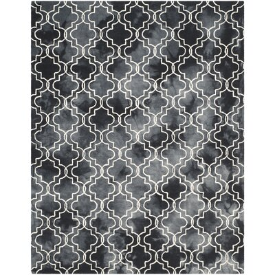 Matthews Hand-Tufted Graphite/Ivory Area Rug Rug Size: Rectangle 5 x 8