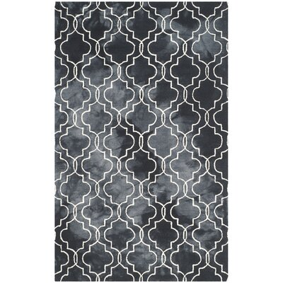 Matthews Hand-Tufted Graphite/Ivory Area Rug Rug Size: 2 x 3