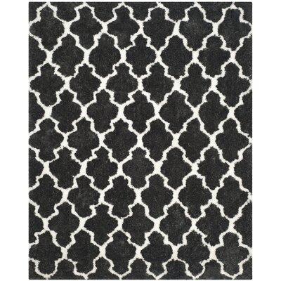 Hand-Tufted Graphite/Ivory Area Rug Rug Size: Rectangle 8 x 10