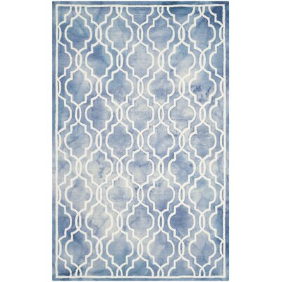 Arlene Hand-Tufted Blue/Ivory Area Rug Rug Size: Rectangle 5 x 8