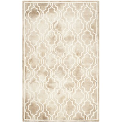 Hand-Tufted Beige/Ivory Area Rug Rug Size: Square 5