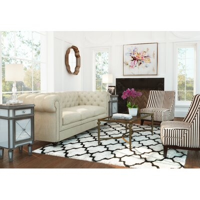 Eno Hand-Tufted Black/Ivory Area Rug Rug Size: Rectangle 4 x 6