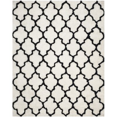 Eno Hand-Tufted Black/Ivory Area Rug Rug Size: Rectangle 8 x 10