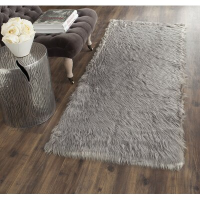 Nichols Hand-Tufted Gray Area Rug Rug Size: Rectangle 5 x 8