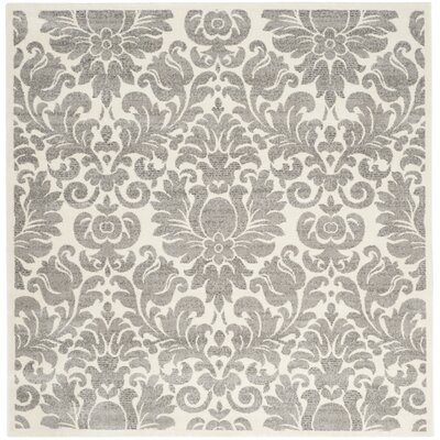 Roisin Gray/Ivory Area Rug Rug Size: Square 67