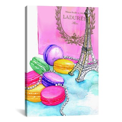 Afternoon in Paris Painting Print on Wrapped Canvas Size: 12