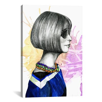Anna Wintour Original Painting on Wrapped Canvas