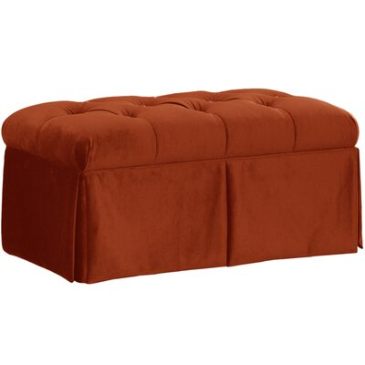 Belle Upholstered Storage Bench Color: Mystere Hacienda