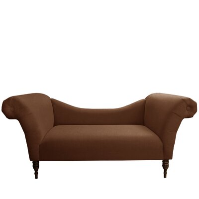 Linen Chaise Lounge Upholstery: Linen Chocolate