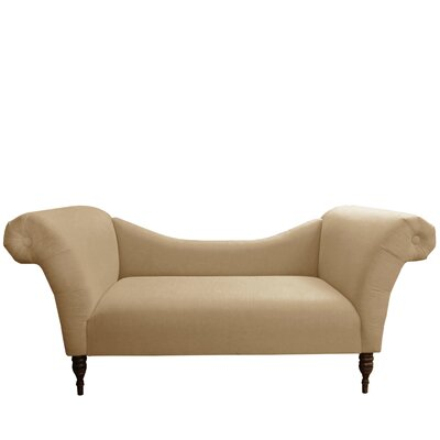Linen Chaise Lounge Upholstery: Sandstone
