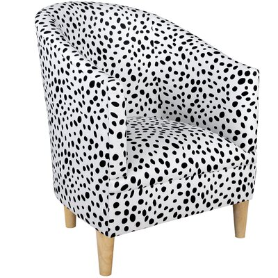 Diana Barrel Chair Upholstery: Togo Black and White