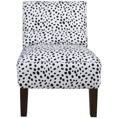 Thurston Slipper Chair Upholstery: Togo Black and White