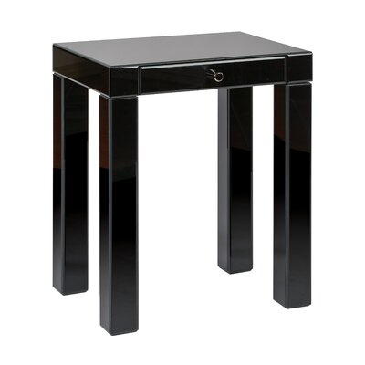 Allen End Table Color: Black Glass