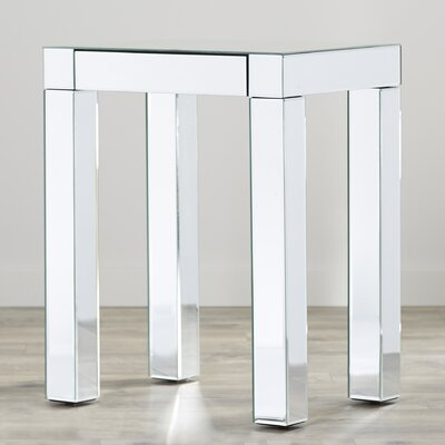 Allen End Table Color: Silver Mirror