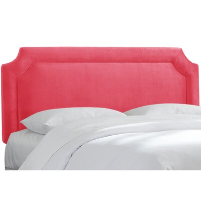 Upholstered Panel Headboard Upholstery: Mystere Flamingo, Size: King
