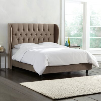 Darrie Upholstered Panel Bed Color: Mystere Mondo, Size: Queen