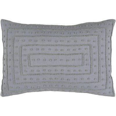 Donato Down Cotton Throw Pillow Color: Gray