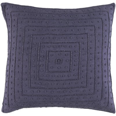 Cotton Throw Pillow Size: 18 H x 18 W x 4 D, Color: Violet