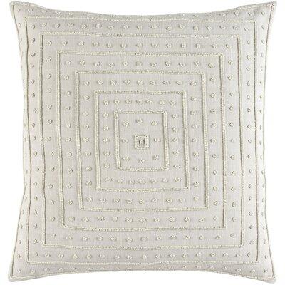 Cotton Throw Pillow Size: 18 H x 18 W x 4 D, Color: Light Gray