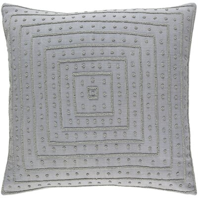 Cotton Throw Pillow Size: 18 H x 18 W x 4 D, Color: Gray
