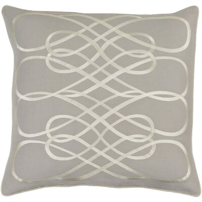 Wilton Linen Throw Pillow Size: 20 H x 20 W x 4 D, Color: Light Gray/Beige