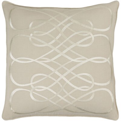 Linen Throw Pillow Size: 22 H x 22 W x 4 D, Color: Navy/Beige