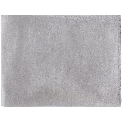 100% Mulberry Silk Throw Color: Gray