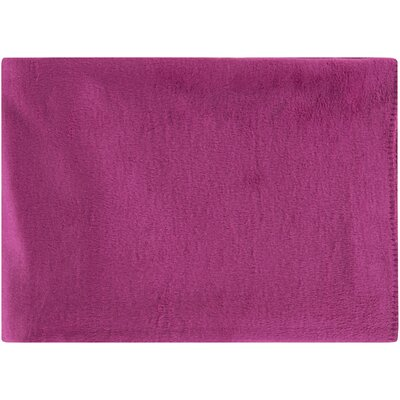 100% Mulberry Silk Throw Color: Pink