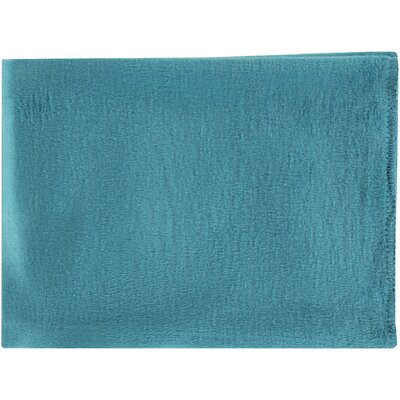 100% Mulberry Silk Throw Color: Blue