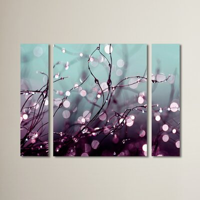'Over the Rainbow' by Beata Czyzowska Young 3 Piece Photographic Print on Wrapped Canvas Set