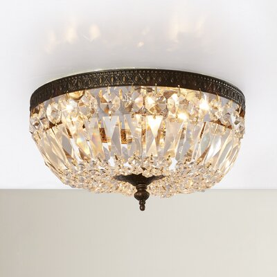 Aureolin 3-Light Flush Mount Crystal Grade: Hand Polished