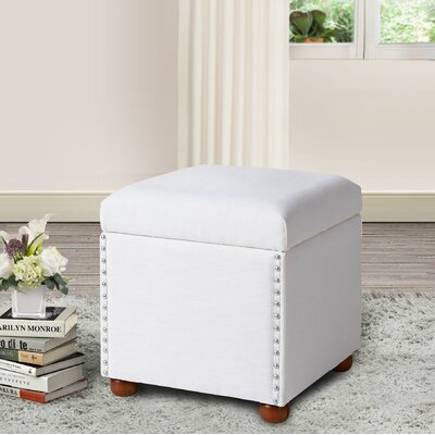 Lechlade Cube Ottoman Upholstery: Star White