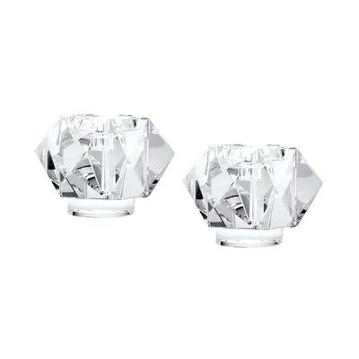Crystal Votive Size: 2.5 H x 7 W x 7 D