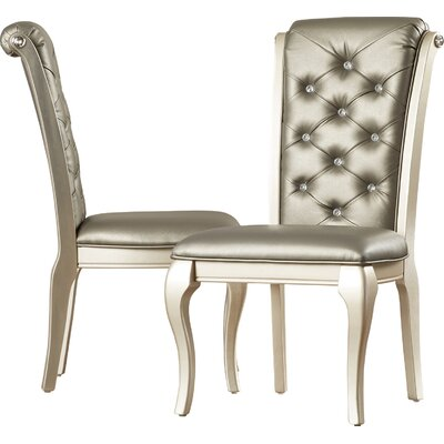 Lane Upholstered Dining Chair Upholstery Color: Champagne, Frame Color: Beige