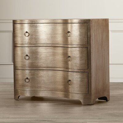 Luton Modern Serpentine 3 Drawer Chest