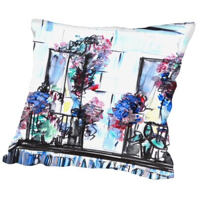 Fort Peck Boulangerie Palais Royal Throw Pillow Size: 18 H x 18 W x 2 D