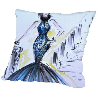 Pansy Throw Pillow Size: 18 H x 18 W x 2 D