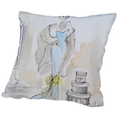 Neihart Sunday Shopping Throw Pillow Size: 18 H x 18 W x 2 D